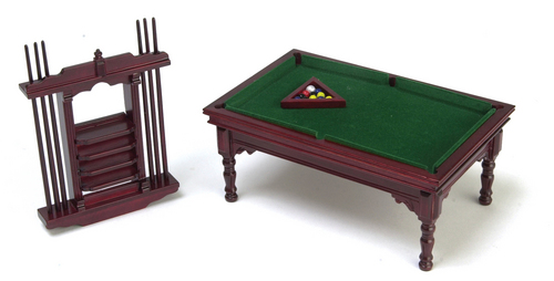 Pool Table Set - Mahogany