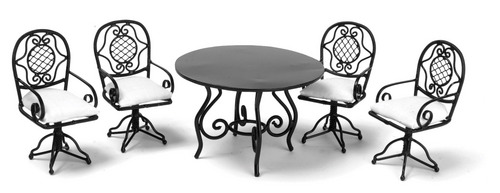 Black Table Set 5pc