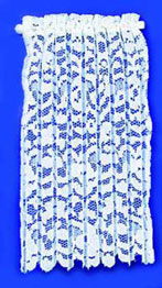 Curtain Lace Panel White