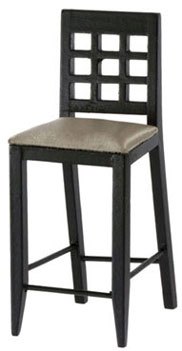 Fancy Bar Chair - Black