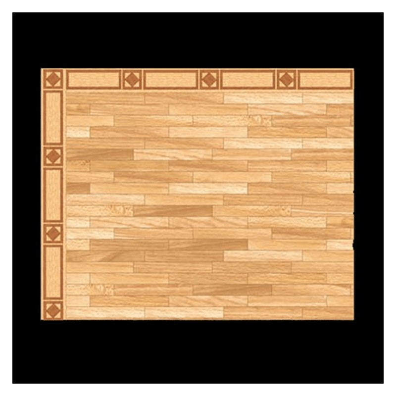 1/2in Scale Parallel Parquet Wood Flooring Sheet
