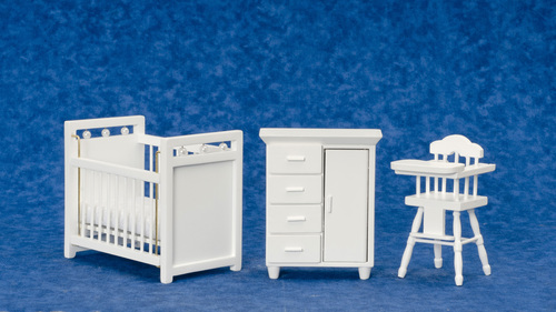 Nursery Furniture - White - 3pc