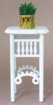 Plant Stand w/ Plant - White