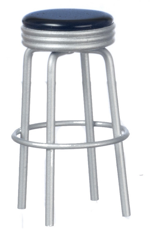 1950s Black & Silver Stool