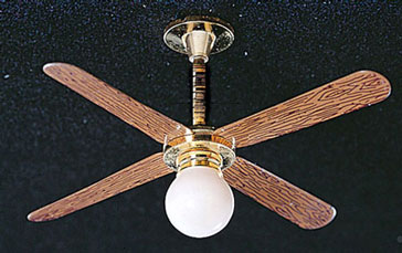 Ceiling Fan w/ Removable Globe 12v