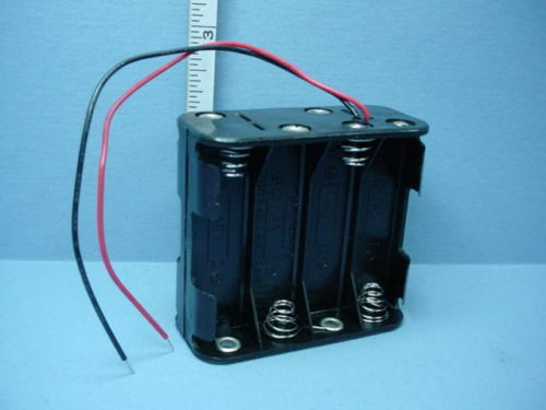 AA Size 8 Battery Holder w/ Wires 12v