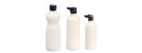 Assorted Bathroom Bottles 4pc White