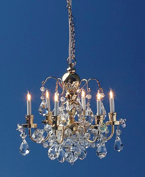 Dollhouse Chandelier Tutorial: 6 Arm Renaissance Crystal Chandelier