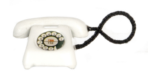 White Rotary Telephone