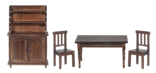 Benson Dining Room Furniture Set 4pc - Walnut