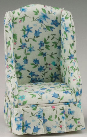 Blue Floral Chair