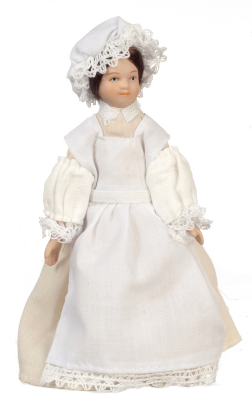 Porcelain Victorian Maid Doll