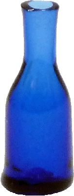 1/2in Scale Blue Wine Bottle Glass Vase