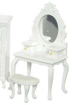 Dressing Table / Vanity w/ Seat - White