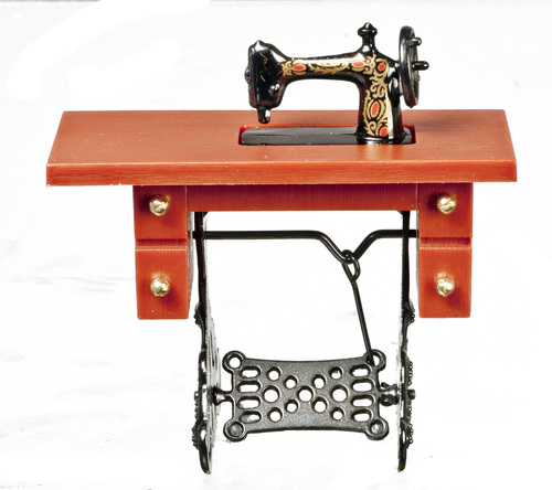 Antique Sewing Machine - Brown