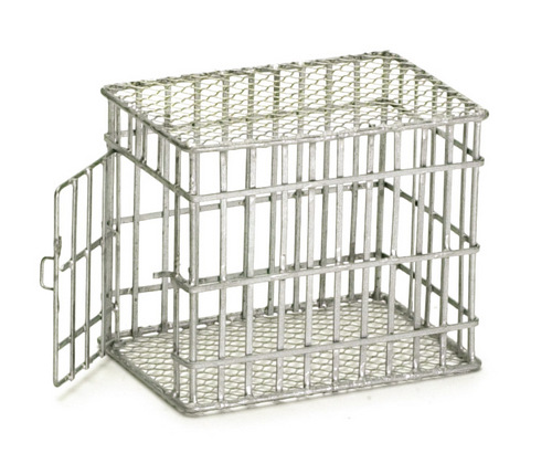 Galvanized Medium Dog Cage