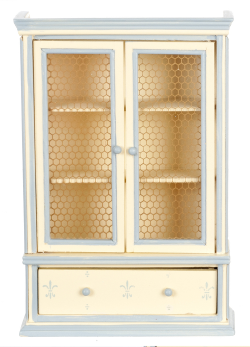 Country Blue & Cream Dining Room Hutch