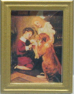 Metal Frame Painting - Dogs & Kids