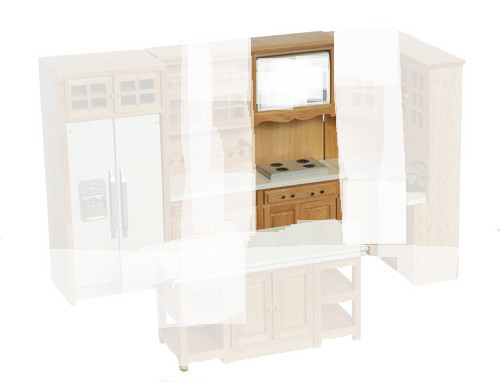 Kitchen Stove in Cabinet - Oak
