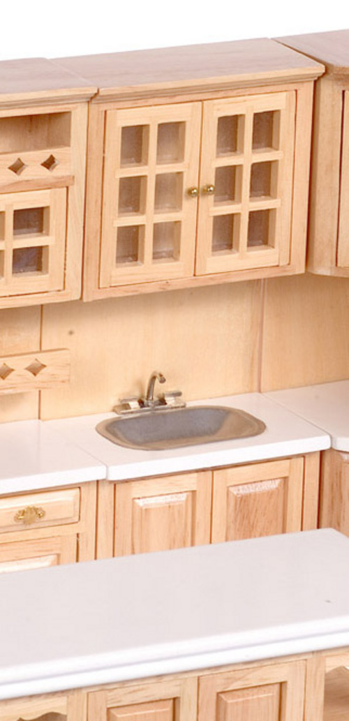 Kitchen Sink in Cabinet - Oak