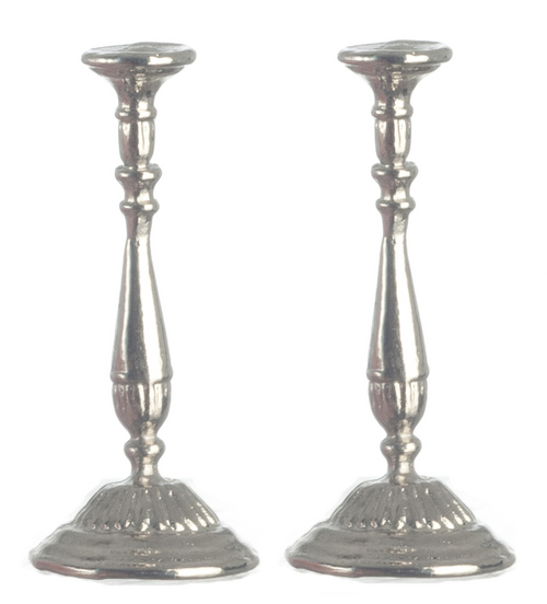Pair of Silver Candlestick Holders