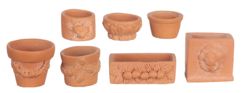 Assorted Garden Pots 7pc