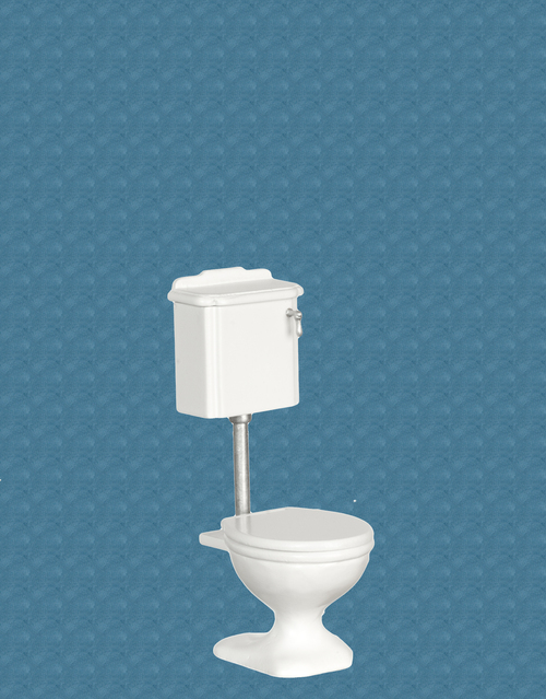 Avalon Victorian Bathroom Toilet - White