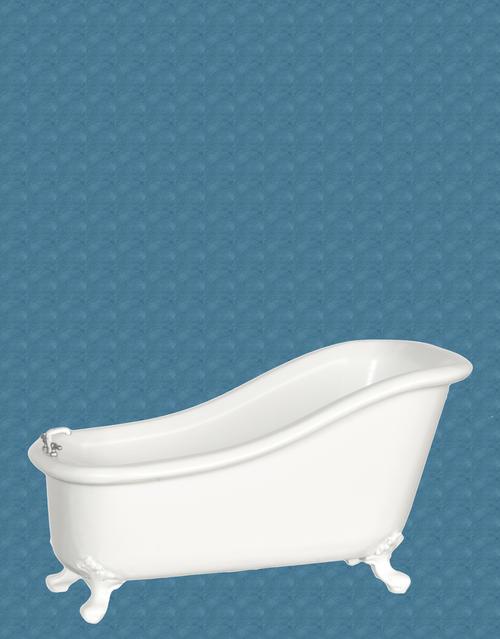 Avalon Victorian High Back Bathtub - White   Mary\'s Dollhouse ...
