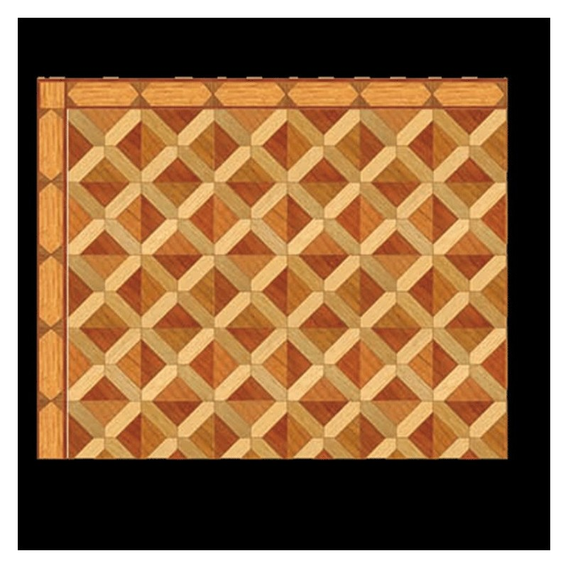 1/2in Scale Square Parquet Wood Flooring Sheet