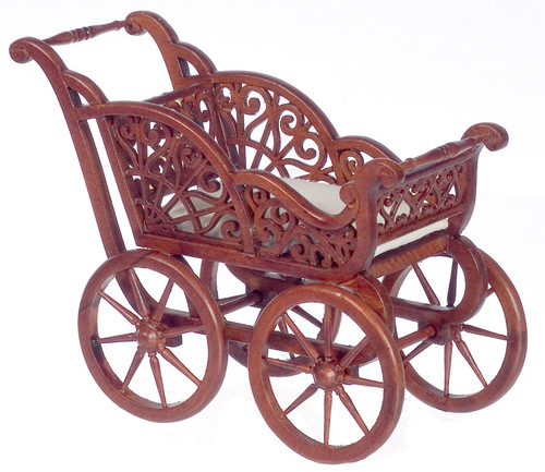 Baby Carriage - Walnut