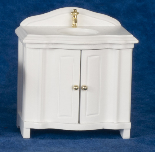 Old Fashioned Bathroom Sink Cabinet - White